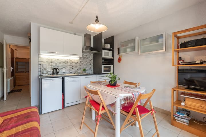 LOCATION APPARTEMENT SAINT LARY SOULAN/ STUDIO CABINE / 4 PERSONNES/ PROCHE CENTRE