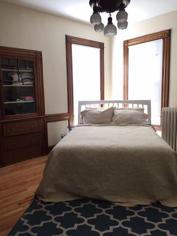 Quiet, bright East Rock 1-bedroom - New Haven - Huis
