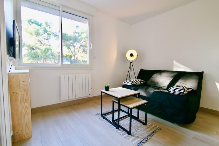 Appartement T2 neuf cadre verdoyant