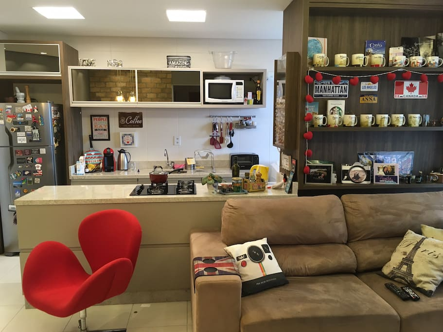 Cozinha Americana | Open Kitchen + Living Room