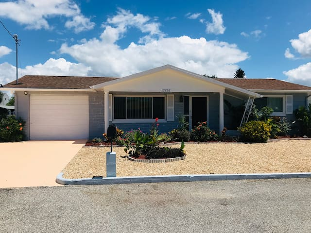 High speed WiFi throughout the home.  Extended driveway along the garage and extra space on the street allow for a boat or additional vehicles. New washer and dryer, linens, towels, utensils, cookware. Home has stove, range, dishwasher and microwave.