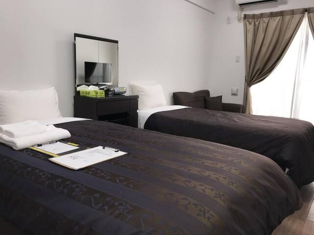 Cozy Stay In Urasoe 1Bedroom Apartment Twin room