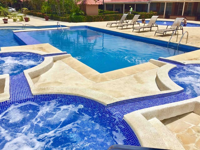 Enjoy our refreshing pools and jacuzzis during your stay in our condo.