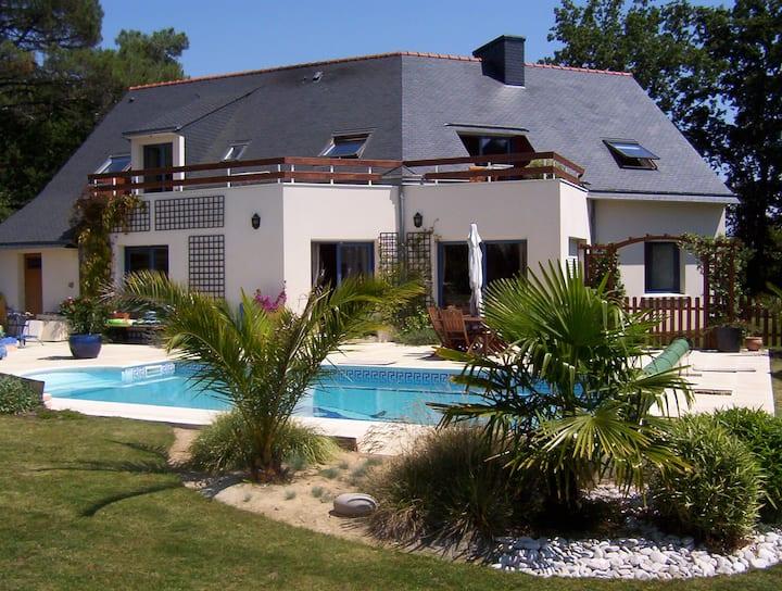 Villa Creizic à Arradon - piscine chauffée privée