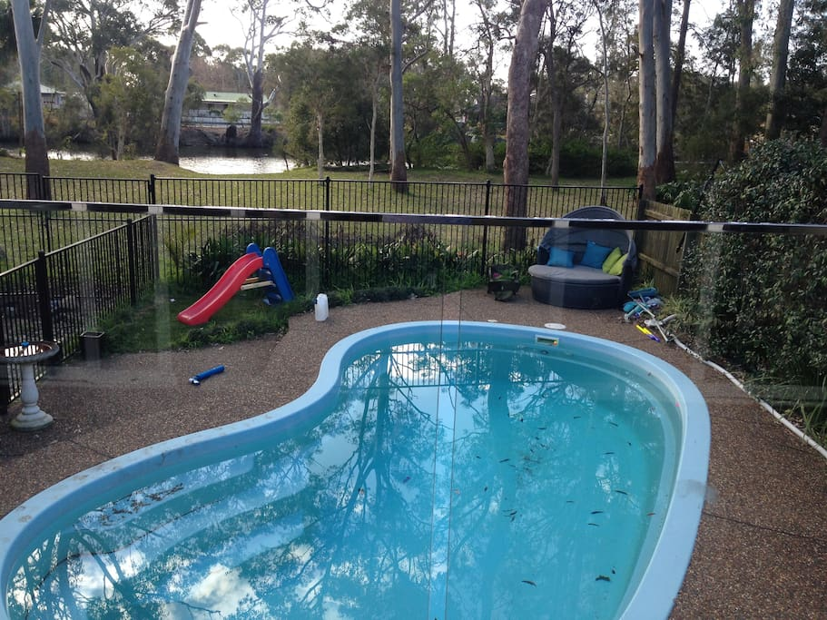 Located on the river with pool, bbq, outdoor pizza oven facilities available