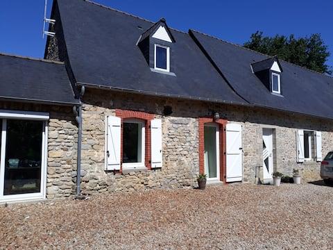 Private space in a farmhouse