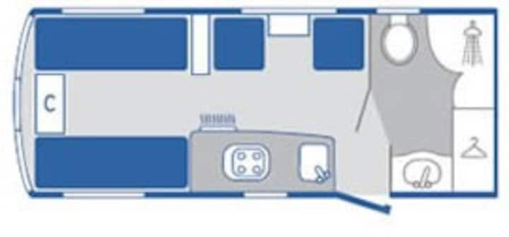 abbey touring caravan with tent very nice