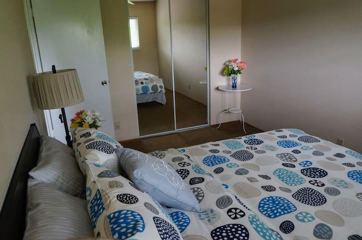 San Jose Private Cozy  Bedroom 3 share bathrooms