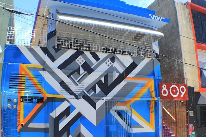 Santurce Urban Art District Room #4 - San Juan - Leilighet