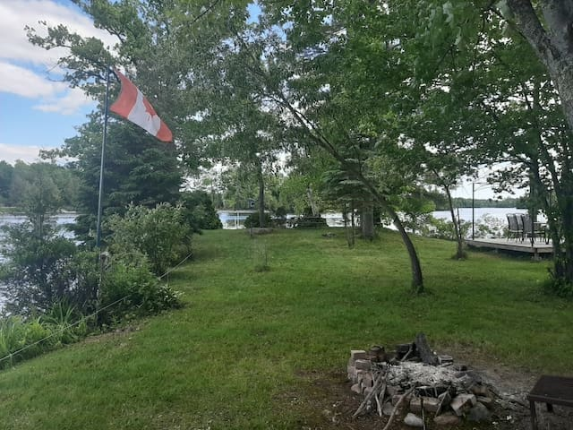 Camping on a private island in the Kawarthas