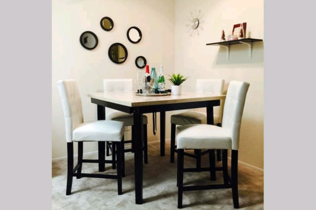 Marble top highcounter dining table