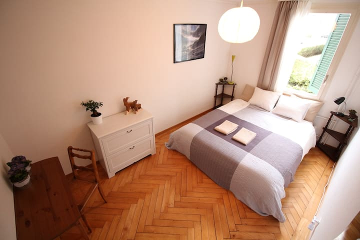 Perfectly located quiet room in Interlaken - Interlaken - Casa