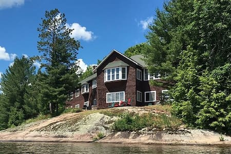 Historic  Adirondack Camp on Big Tupper Lake - Tupper Lake - Haus