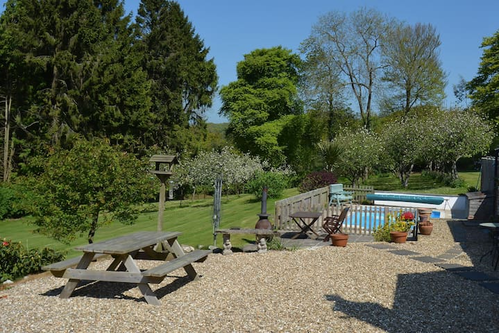 Unique rural retreat on a lovely 15 acre smallholding with award winning tea room & farm shop