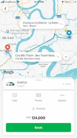 It costs about $5 from my place to Ben Thanh market (city center) by Grab car