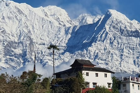 Spectacular views of the Himalayas from every room