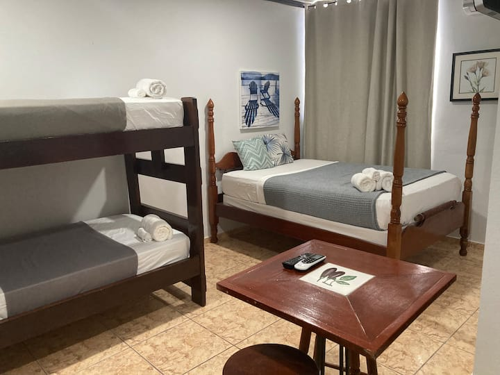WILD FLOWERS RM 6 w/ bunk bed and a double bed