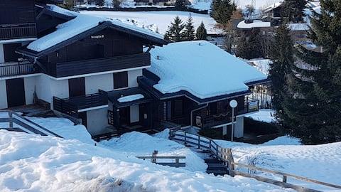Studio 2 mn 30 des pistes Mont blanc - Megeve