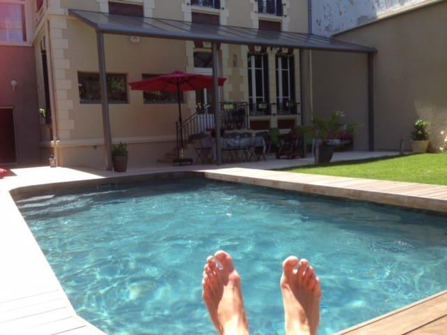 Hyper centre Chambre chez l'habitant avec piscine