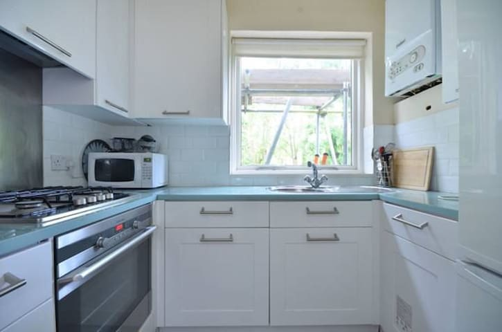 Large ensuite with access to private park