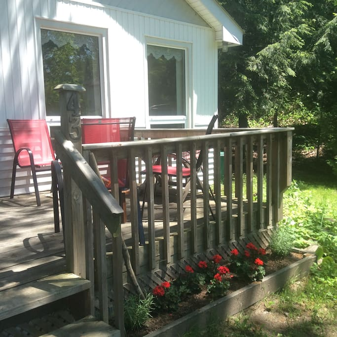 Shady front porch
