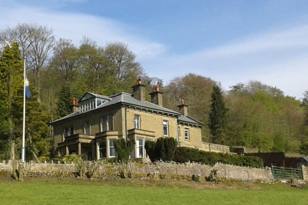 Woodlands is perched on the side of a hill and has fantastic views over the valley.