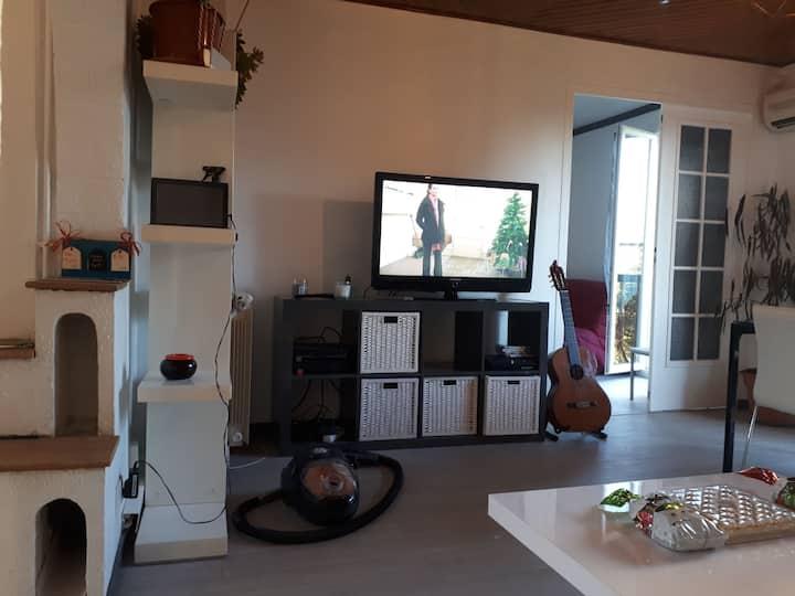Chambre Aix en Provence vue jardin
