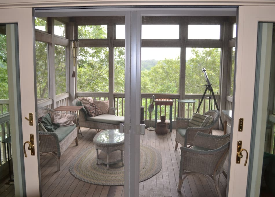 screened in porch off of great room