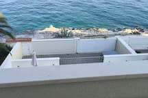 2.Large terrace overlooking the beach and sea