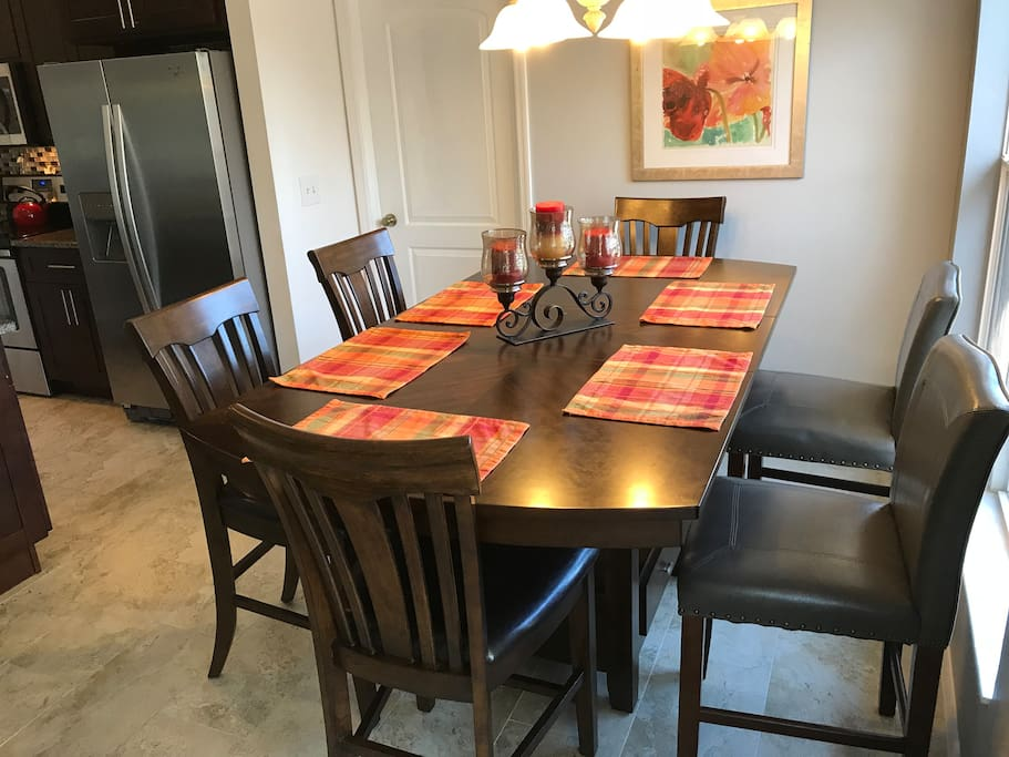 Dining table and area.
