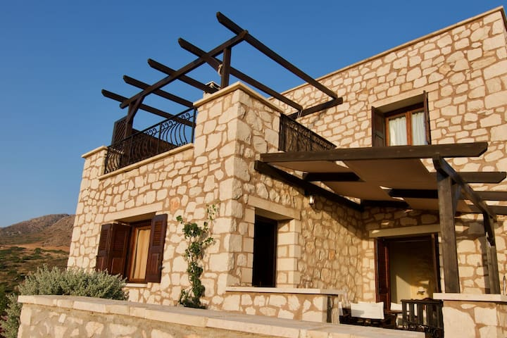 Stone Holiday home in Lagkada with garden offering sea views