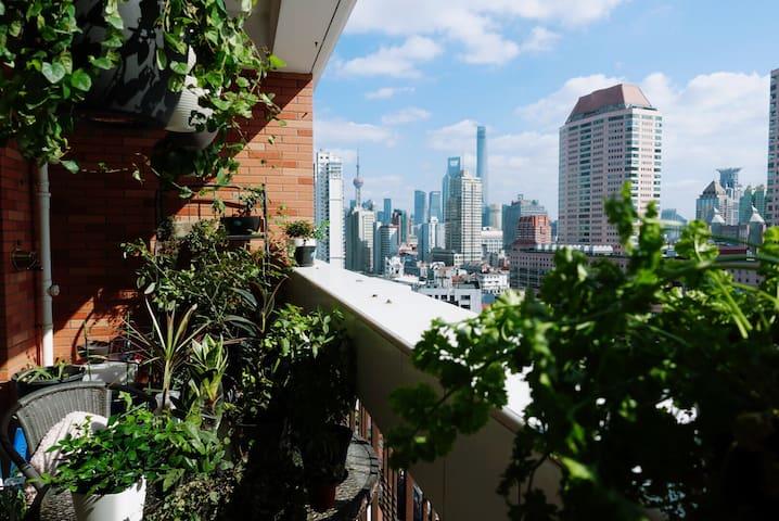 【悬园】市中心河景公寓Hanging garden @downtown - Shanghai - Byt