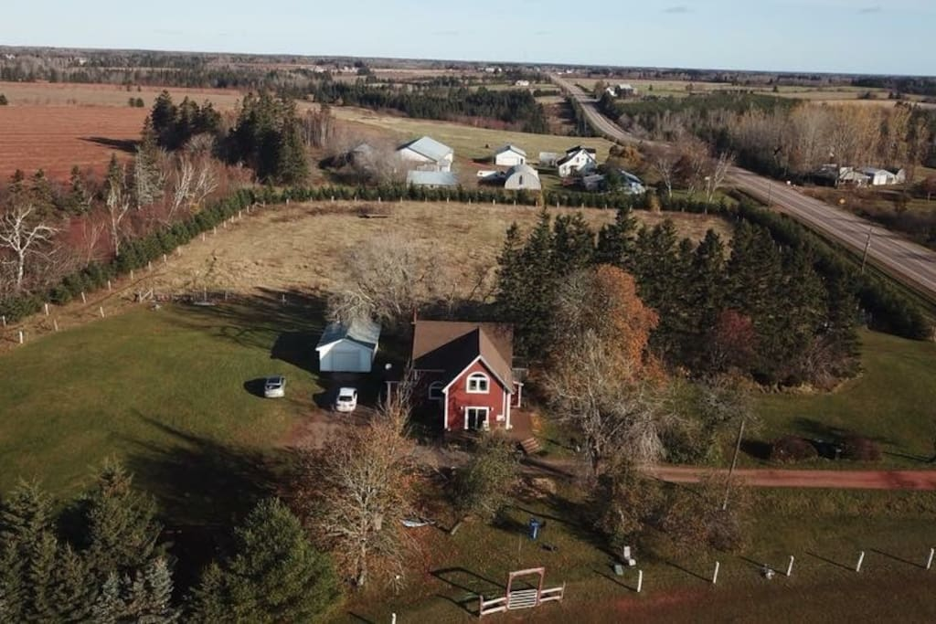 Escape to our cozy home on large private property, relax on beaches is minutes away from the home, wrap around deck for lounging and watching our two horses graze the field. Lots of room to escape it all and embrace country living !! We look forward to treating you as Special Guests!!