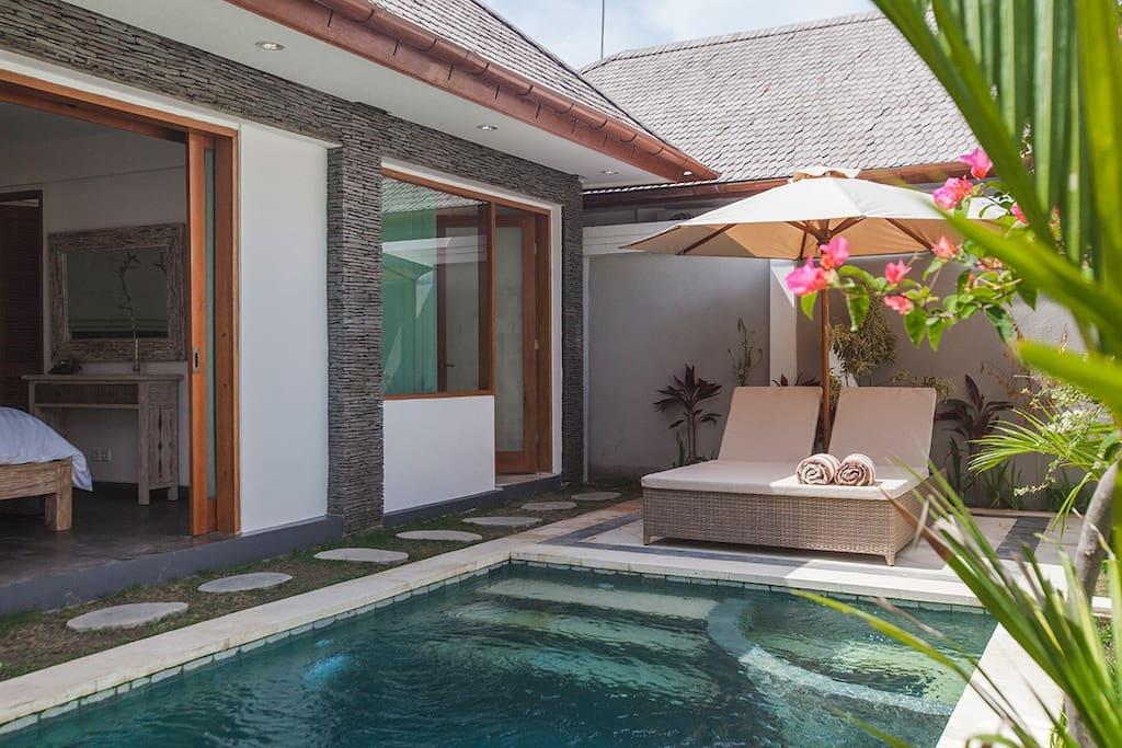 One bedroom private pool villa Bali