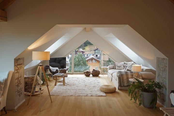 Modern Alpine Chic Duplex in the Heart of Klosters