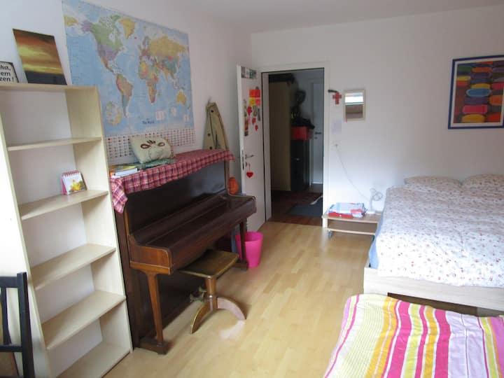 16 m2 room + living room