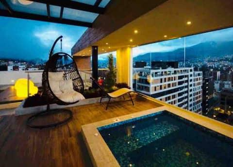 Luxury Suite in Quito. Jacuzzi, Sauna, Turco.