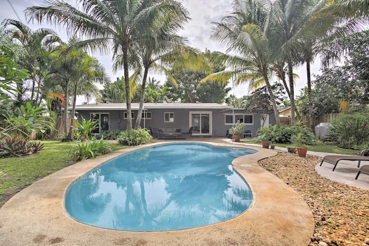 Renovated Oakland Park Home w/ Yard, Patio & Pool!