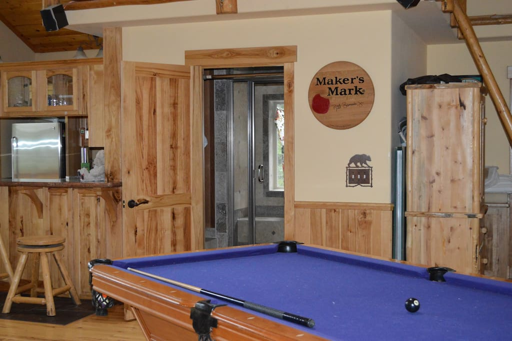 Pool Table and Steam Shower