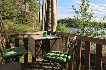 A cozy cabin by the lake w/ sauna & berry picking
