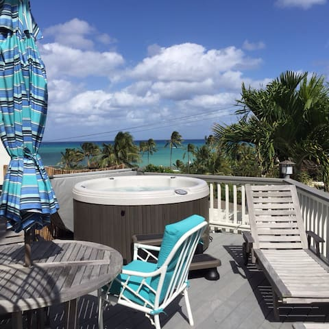 Ocean View with Hot Tub - Kailua - Casa