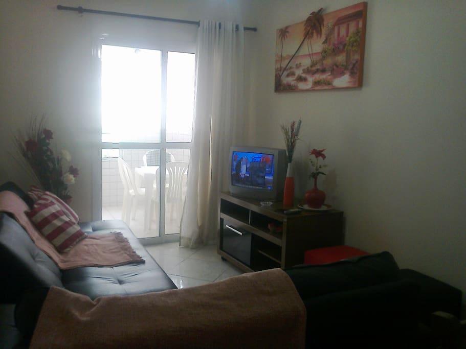 sala de visita-tv -e sofá cama p/2 lugares