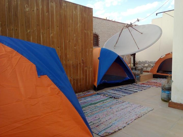 Terrace unit eco camp + Wi-Fi, water, coffee, tea