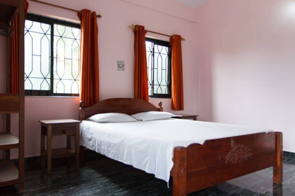 Bedroom 1- Spacious air conditioned bedroom with double bed