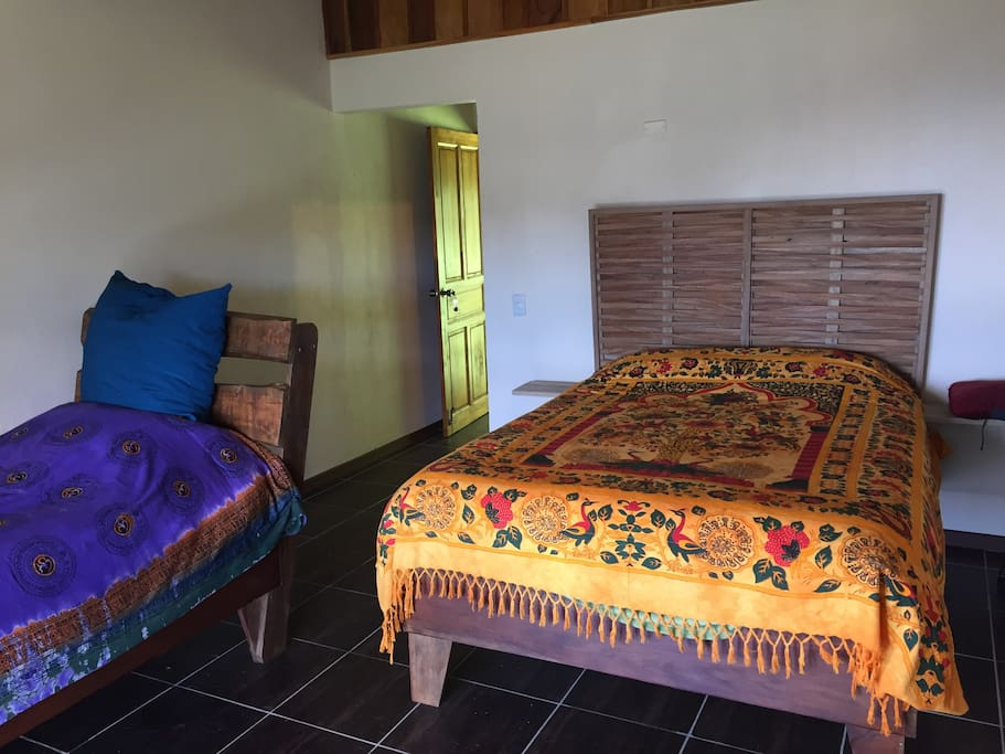 Each Bedroom has a double and a single bed