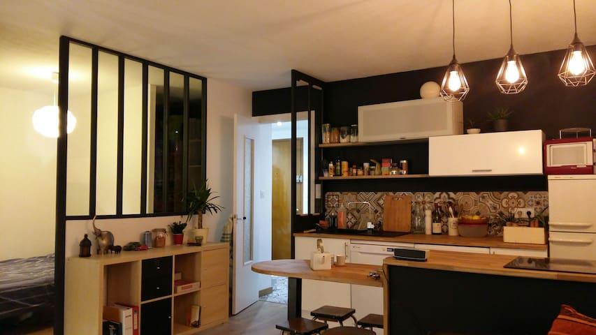 Charmant T2 style loft près du lac! - Annecy - Apartamento