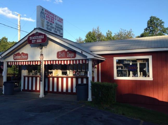 Custer's Last Stand...yummy hot dogs & ice cream in Wurtsboro.