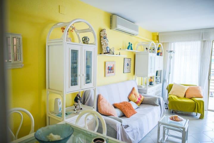 Apartamento en primera linea de playa, WIFI gratis