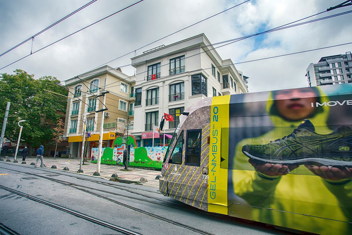The apartment is just front of the Bagcilar tram station.