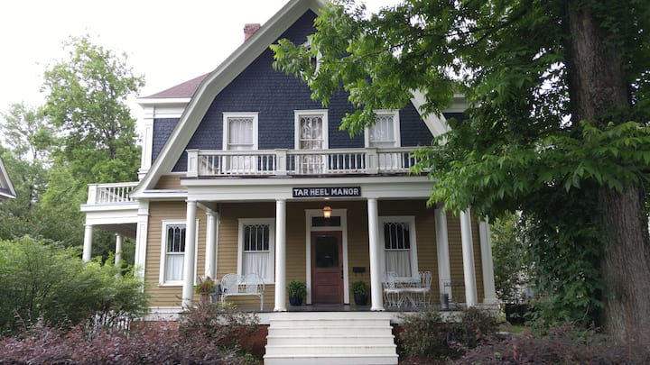 Tar Heel Manor - large, historic Greensboro house